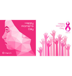 International womens day greeting card design vector