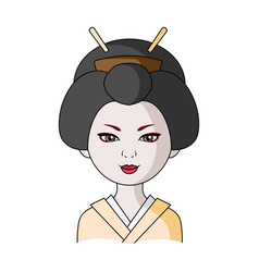 japanesehuman race single icon in cartoon style vector image vector image