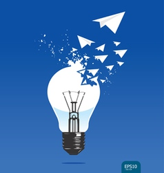 light of aircraft paper concept vector image