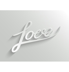 Love lettering Greeting Card vector image vector image