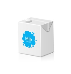 Milk packet isolated on white background of carton vector image