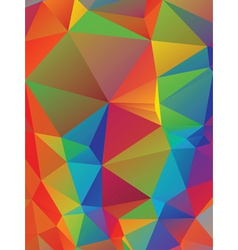 Rainbow Polygonal Background4 vector image