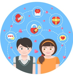 Round Dating Concept vector image