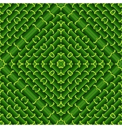 Seamless geometric pattern in green ecological vector