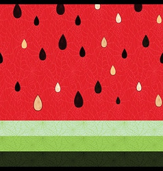 Seamless watermelon fruit pattern vector image vector image