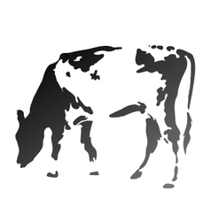 silhouette spotted cow vector image