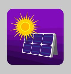 solar panel energy concept background cartoon vector image