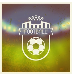 Sports label with football symbols vector image