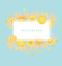 Summer garden abstract decorative floral vector