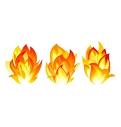 Three fire icon vector image vector image