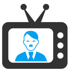 Tv dictor flat icon vector