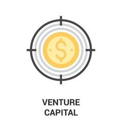Venture capital icon concept vector