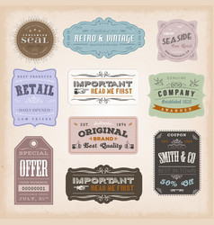 Vintage labels ans signs vector