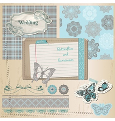 Wedding retro set vector image