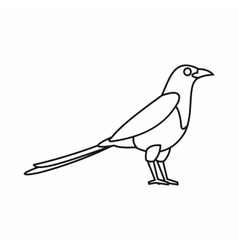 Bird magpie icon outline style vector