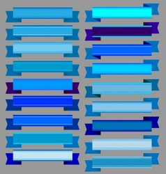 Blue ribbons and blue banners vector
