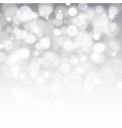 Glittery lights silver abstract christmas vector