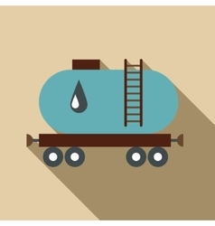 Waggon for gasoline icon flat style vector