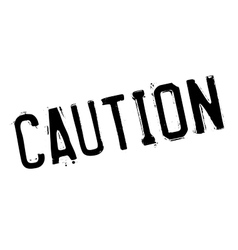 Caution stamp rubber grunge vector