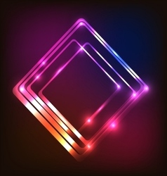 Abstract glowing colorful background with rounded vector