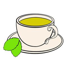 cup of tea icon cartoon vector image