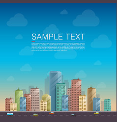 Modern city landscape background vector