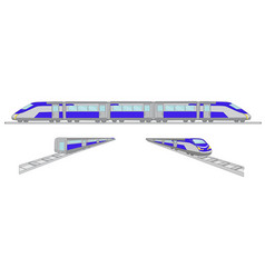 High speed trains set vector