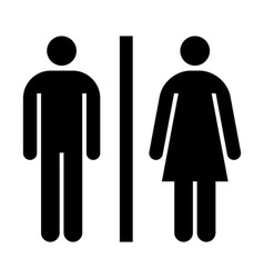 Male female wc sign vector
