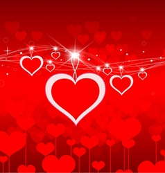Valentines day abstract background vector