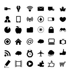 Black universal web icons vector
