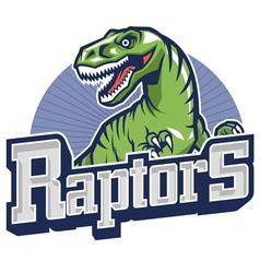 Raptor mascot vector