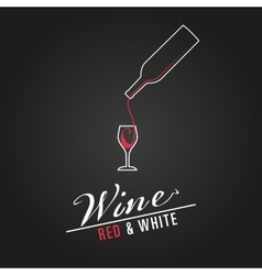 Wine glass concept menu design poster vector