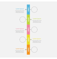 Timeline vertical ribbon infographic with empty vector