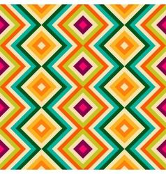 Ethnic tribal zig zag and rhombus seamless pattern vector image