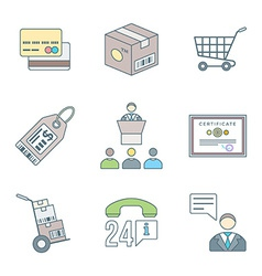 Various colored outline business distribution vector