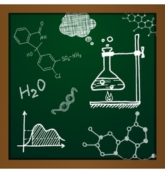 Chalk draw chemistry elements vector