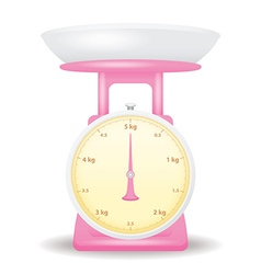 Pink color weight scale market isolate on white vector