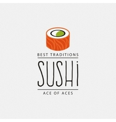 Sweet sushi label vector
