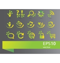 Collection of ecology signs vector