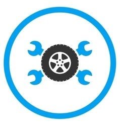 Tire service rounded icon vector