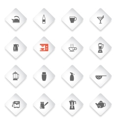 Utensils simply icons vector