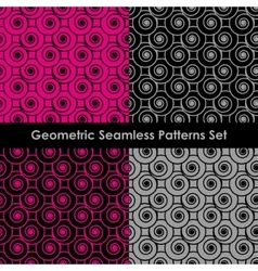 Geometric seamless patterns eps 8 vector
