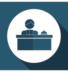 Hotel receptionist design vector
