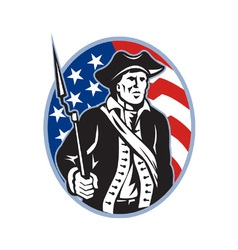 American patriot minuteman vector