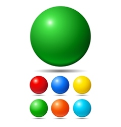 Set of bright colored balls vector image