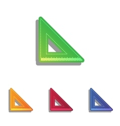 Ruler sign  colorfull applique icons vector