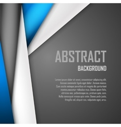 Abstract background of blue white and black vector image vector image