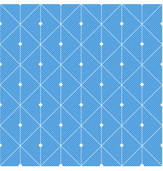 abstract blue seamless pattern from rectangles vector image