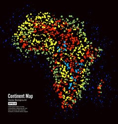 africa continent map abstract background vector image