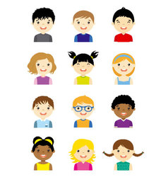 avatar children set vector image